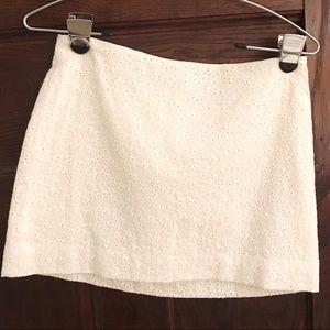 NEW! Lilly Pulitzer White Eyelet Mini Skirt